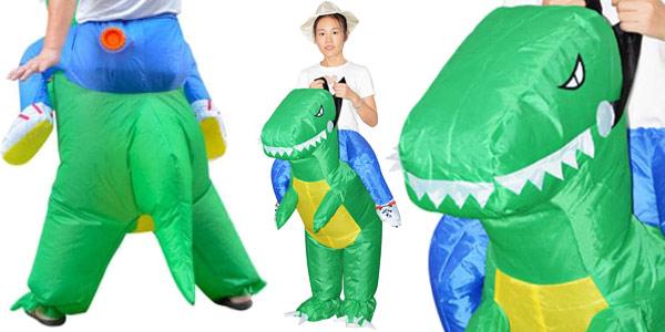 Disfraz jinete de dinosaurio hinchable chollazo en DressLily