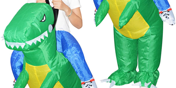 Disfraz jinete de dinosaurio hinchable chollo en DressLily