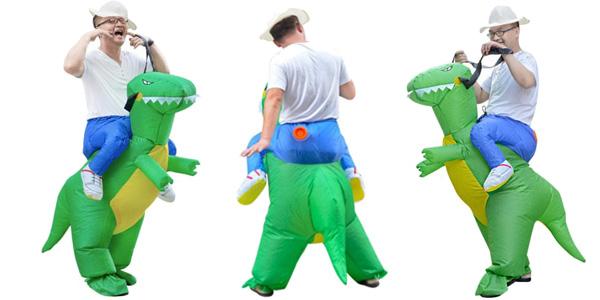Disfraz jinete de dinosaurio hinchable barato en DressLily