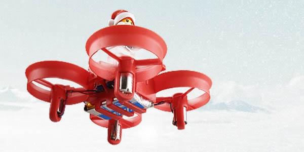 Mini-Dron con figura Papá Noel tipo LEGO