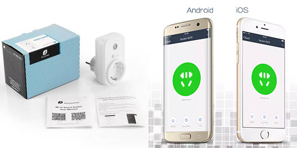 Enchufe WiFi inteligente Houzetek SWA1 barato