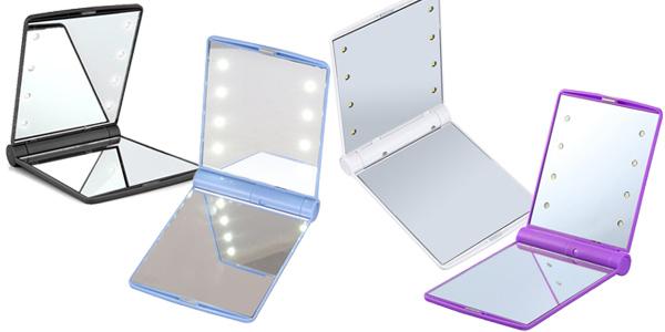 Espejo de maquillaje con luces LED barato en AliExpress