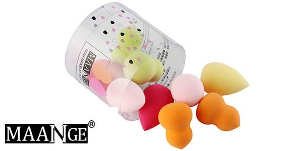 Pack 10 esponjas Maange de maquillaje baratas en AliExpress