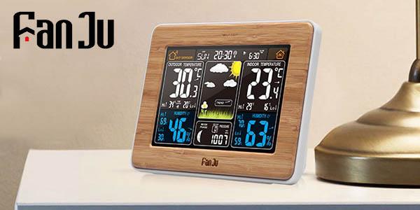 Reloj despertador con estación meteorológica FanJu FJ3365