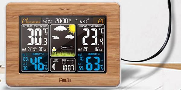 Estación meteorológica con sensor exterior barata