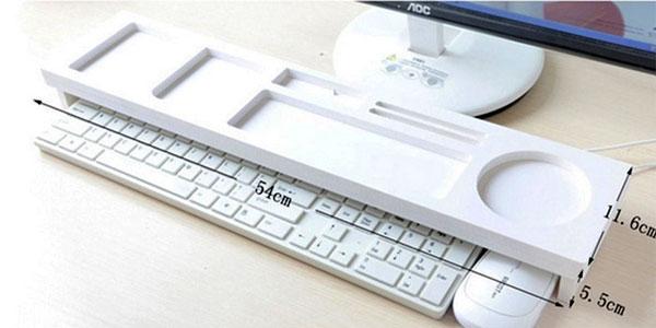 Estante organizador de escritorio para encima del teclado chollo en AliExpress