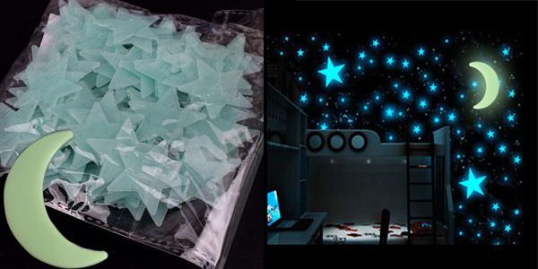 Pack de pegatinas de estrellas fluorescentes