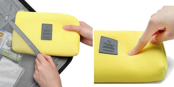 Mini bolsa acolchada para dispositivos eléctrónicos y cables chollazo en AliExpress