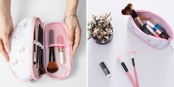 Estuche para maquillaje con espacio separado para pinceles barato en AliExpress