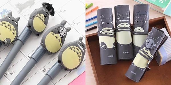 Estuche y bolígrafos Totoro baratos