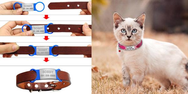 Chapa identificativa para el collar de las mascotas chollazo en AliExpress
