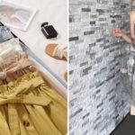 Falda plisada midi con botones y cintura alta para mujer barata en AliExpress