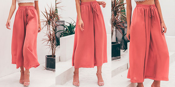 Falda pantalón de cintura alta en varios modelos para mujer barata