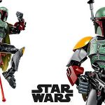 Figura Boba Fett de Star Wars estilo LEGO