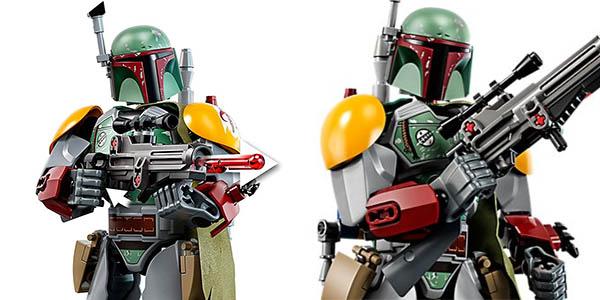 Figura Boba Fett de Star Wars estilo LEGO barata