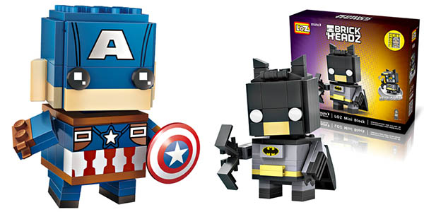 Figuras Brick Headz de Superhéroes tipo LEGO