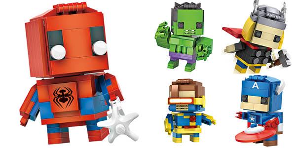 Brick Headz de Superhéroes estilo LEGO