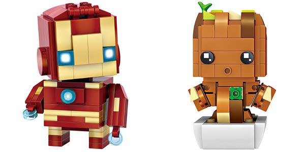 Mini Figuras Brick Headz de Superhéroes baratas