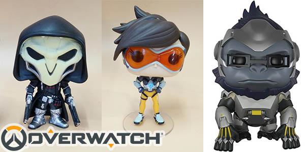 Figuras Overwatch de Tracer, Reaper, Winston y Widowmaker
