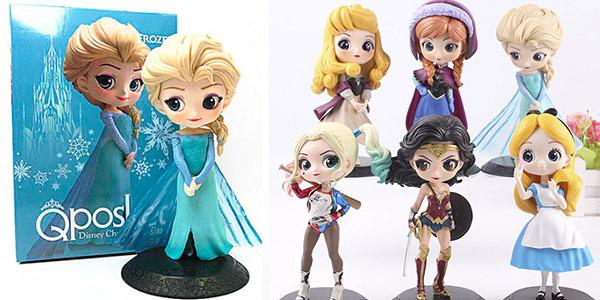 Figuras de princesas Disney y heroínas DC estilo Qposket