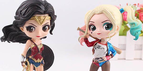 Figuras de princesas Disney y heroínas DC estilo Qposket baratas
