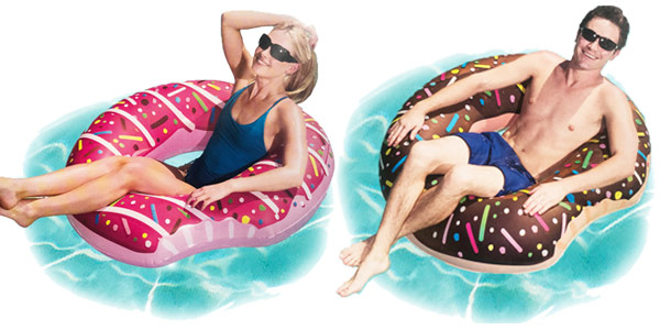 Flotadores hinchables gigantes DMAR de diseño donut chollo en AliExpress