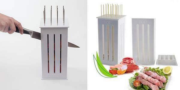 funcional cortador para preparar pinchitos caseros barato