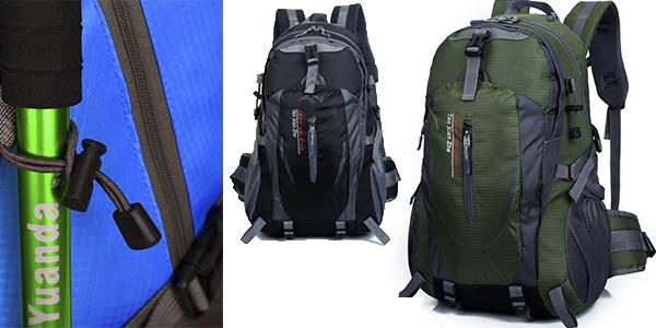 funcional mochila de senderismo con bolsillos y trabillas ajustables barata