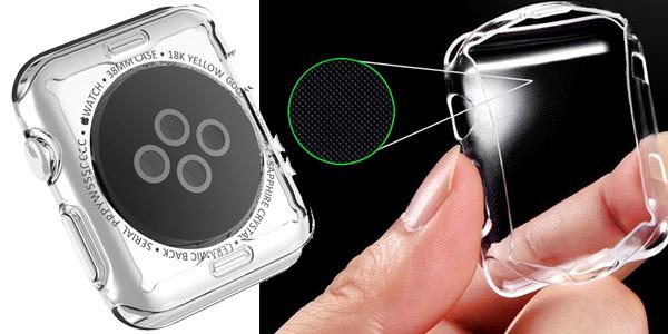 Funda Protectora TPU transparente para Apple Watch chollo en AliExpress