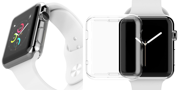 Funda Protectora TPU transparente para Apple Watch barata en AliExpress