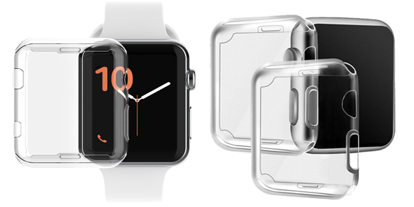 Funda Protectora TPU transparente para Apple Watch chollazo en AliExpress