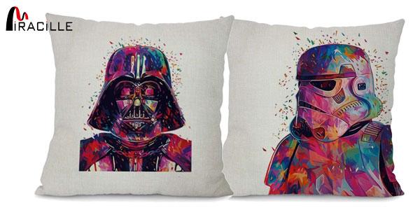 Fundas de cojín Miracille con estampado de personajes Star Wars baratas en AliExpress