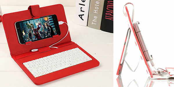 funda con teclado para smartphones funcional a precio brutal
