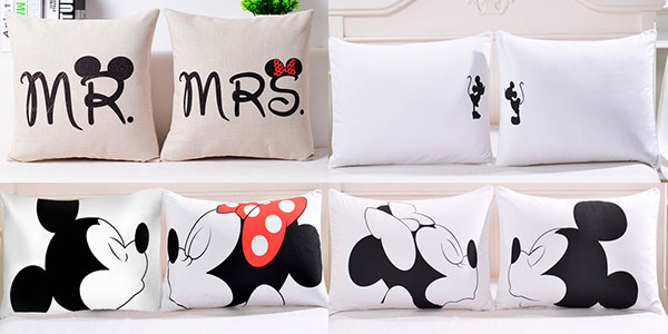 Chollo Fundas de almohada Mickey y Minnie