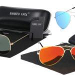 Gafas de sol unisex Banned 1976 estilo aviador baratas en AliExpress