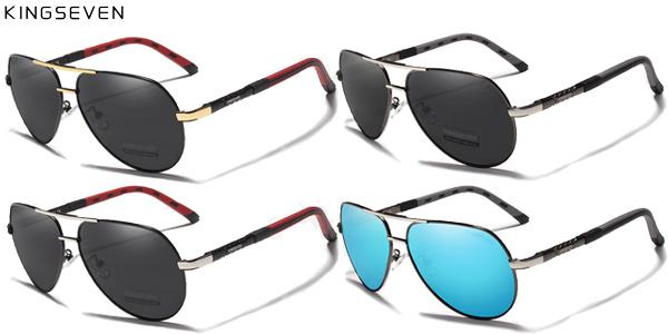 Gafas de sol polarizadas con montura metálica para hombre chollo en AliExpress