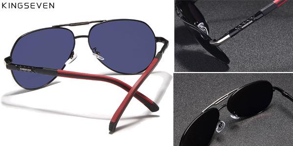 Gafas de sol polarizadas con montura metálica para hombre chollazo en AliExpress