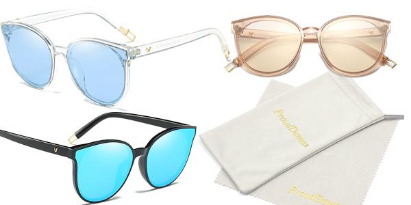 Gafas de sol estilo vintage para mujer con protección UV400 baratas