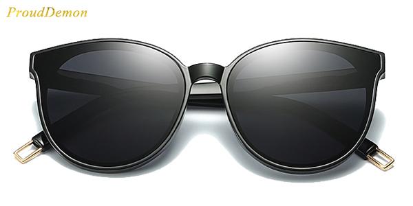 Gafas de sol estilo retro ProudDemon para mujer con protección UV400 en AliExpress