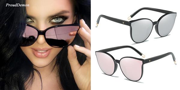 Gafas de sol estilo vintage para mujer con protección UV400