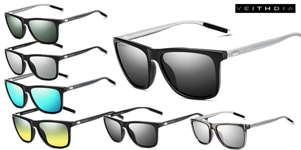 Gafas de sol polarizadas VEITHDIA de diseño unisex baratas en Aliexpress
