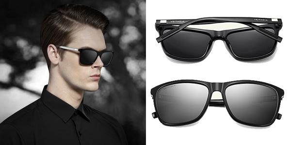 Gafas de sol polarizadas VEITHDIA de diseño unisex chollazo en Aliexpress