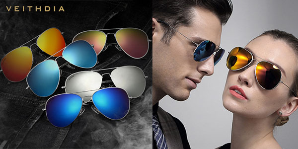 Gafas de sol Veithdia polarizadas unisex en varios colores baratas