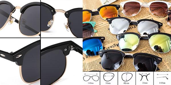 Gafas de sol unisex de espejo con protección UV400 baratas