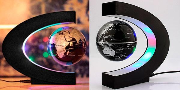 Globo terráqueo con levitación magnética y luz LED en Rosegal