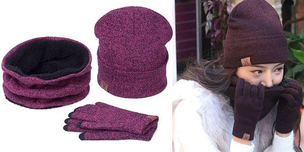 Set de gorro, braga cuello y guantes barato en AliExpress