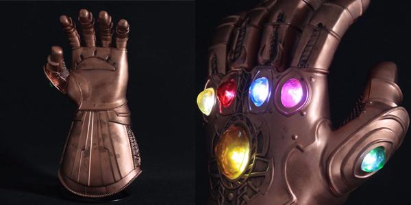 Guantelete del Infinito Marvel iluminado chollazo en AliExpress