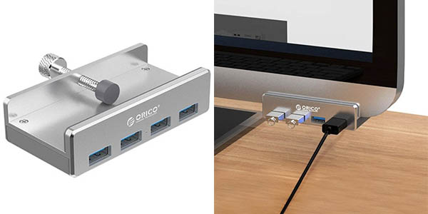 Hub USB ORICO MH4PU con 4 puertos USB 3.0 para iMac