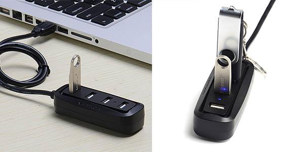 HUB USB 2.0 de 4 puertos hasta 480 Mbps