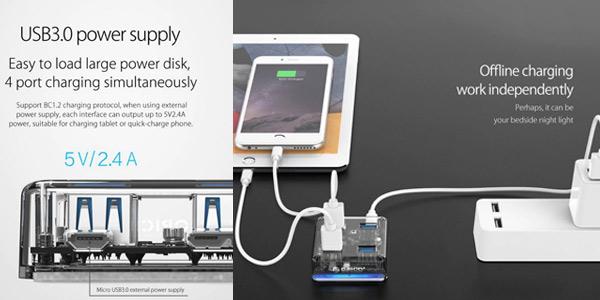 HUB USB 3.0 Orico con 4 puertos USB chollazo en AliExpress